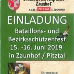 Bataillons- und Bezirksschützenfest 2019 in Zaunhof / Pitztal
